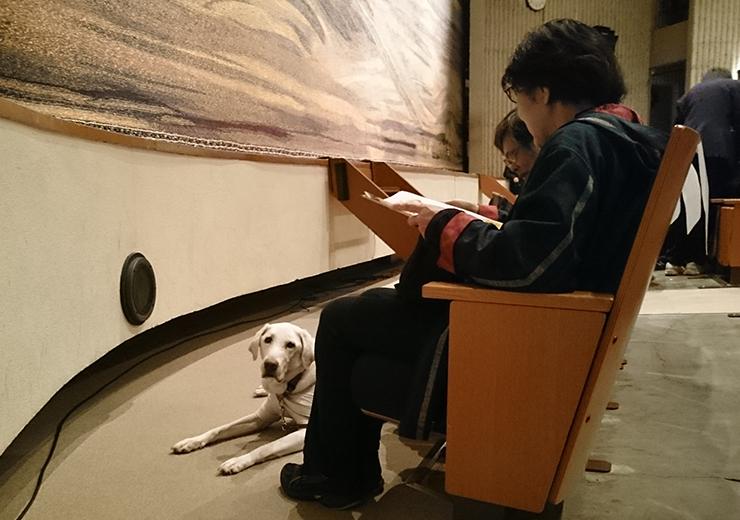 ほじょ犬同伴席の写真